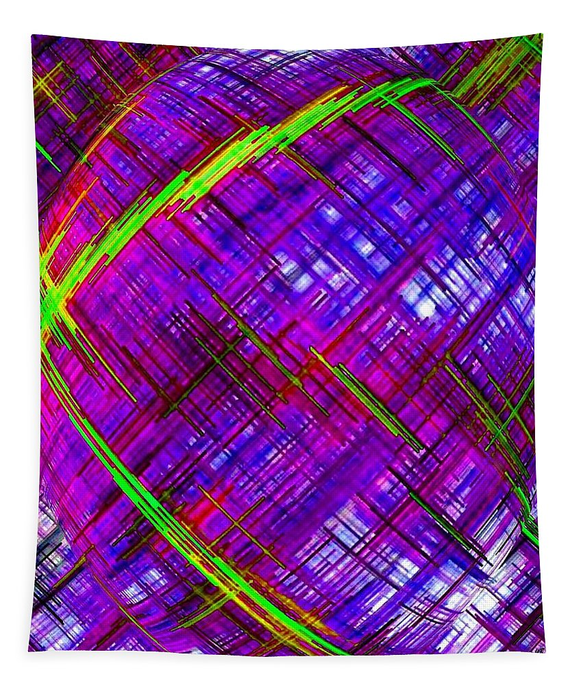 Micro Linear Tapestry featuring the digital art Micro Linear 9 by Will Borden