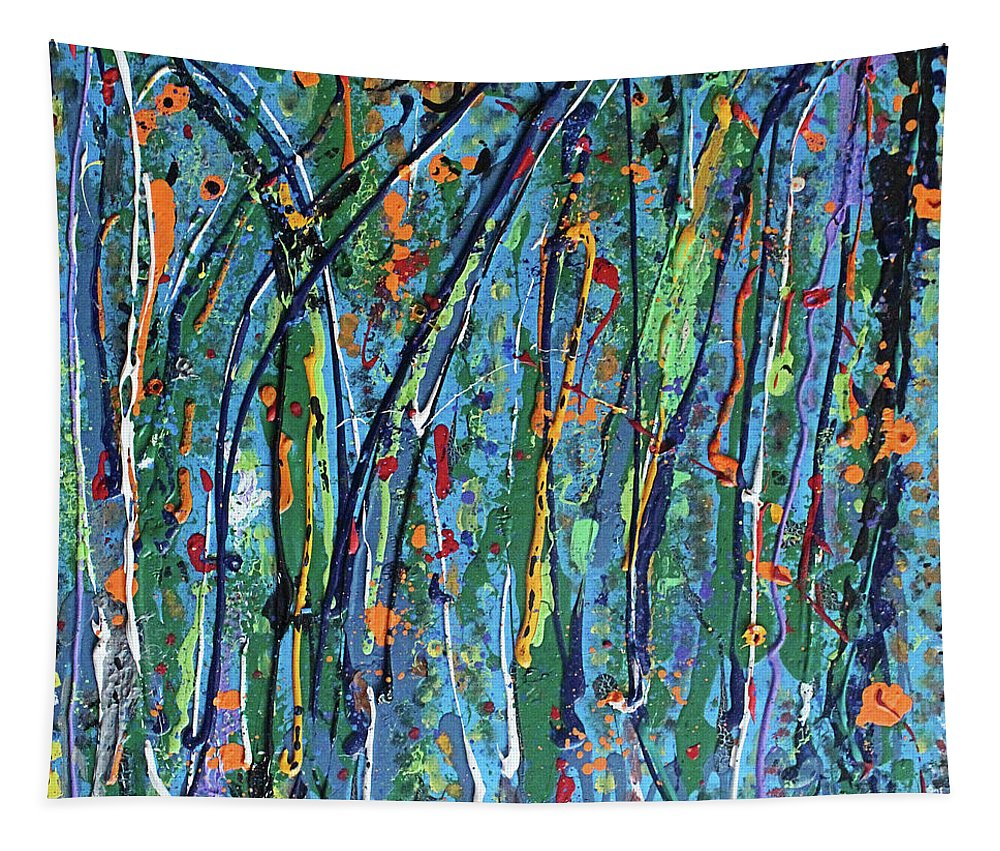 Bright Tapestry featuring the painting Mid-Summer Night's Dream by Pam Roth O'Mara