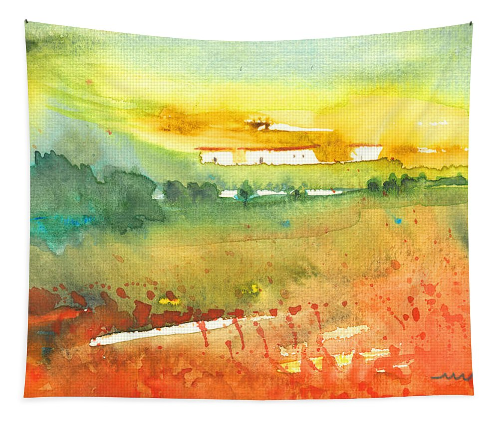 Watercolour Tapestry featuring the painting Midday 06 by Miki De Goodaboom