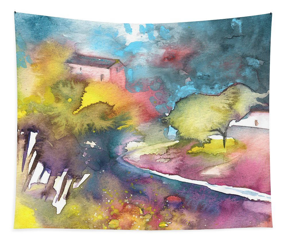 Landscapes Tapestry featuring the painting Midday 17 by Miki De Goodaboom