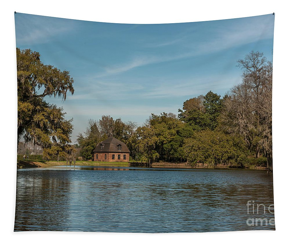 Middleton Tapestry featuring the photograph Middleton By The Pond by Dale Powell