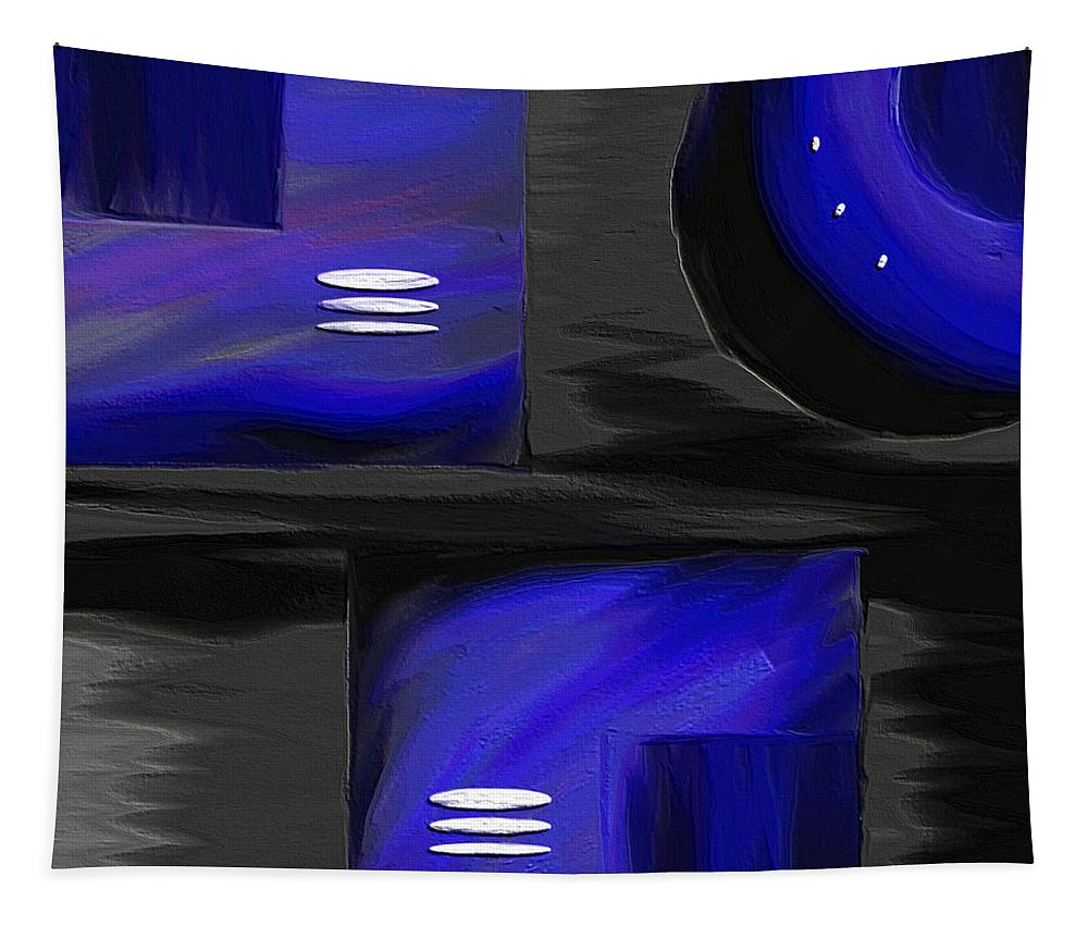 Abstract Art Tapestry featuring the painting Midnight by Ely Arsha