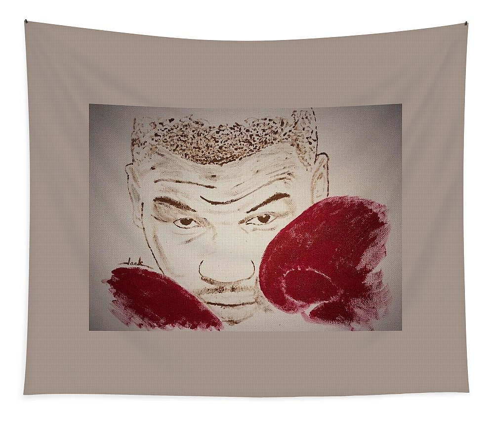 Mike Tyson Tapestry featuring the painting Mike Tyson by Jack Bunds