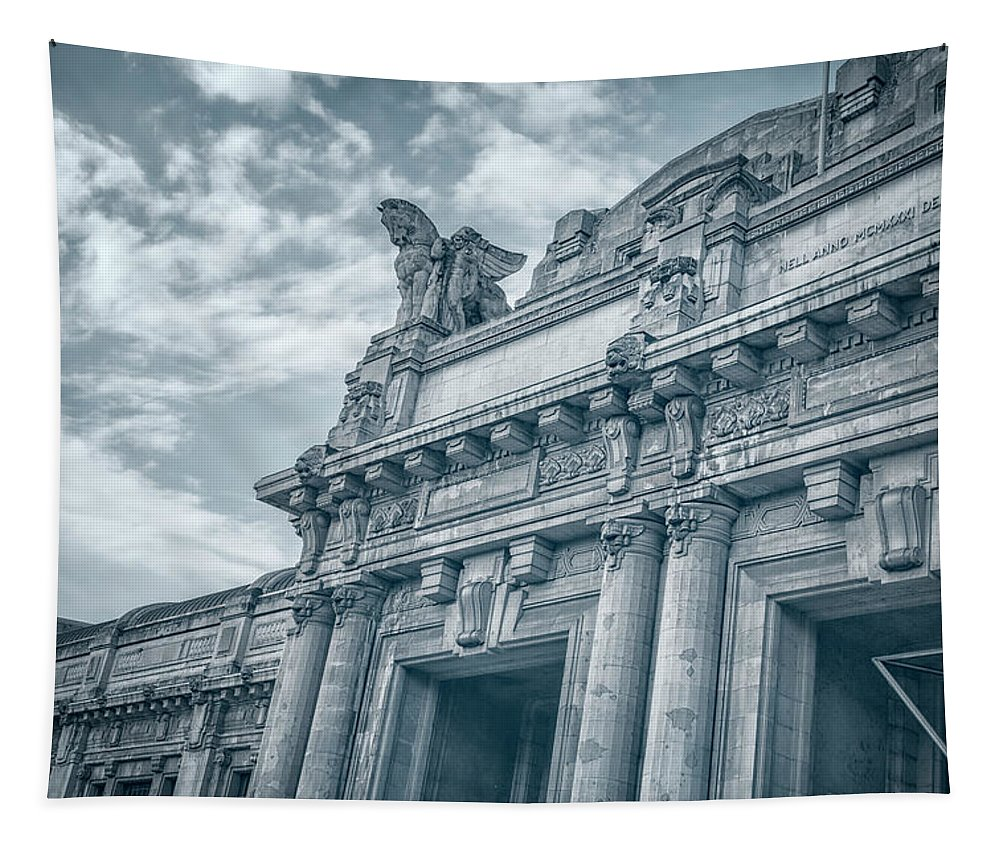 Joan Carroll Tapestry featuring the photograph Milano Centrale II by Joan Carroll