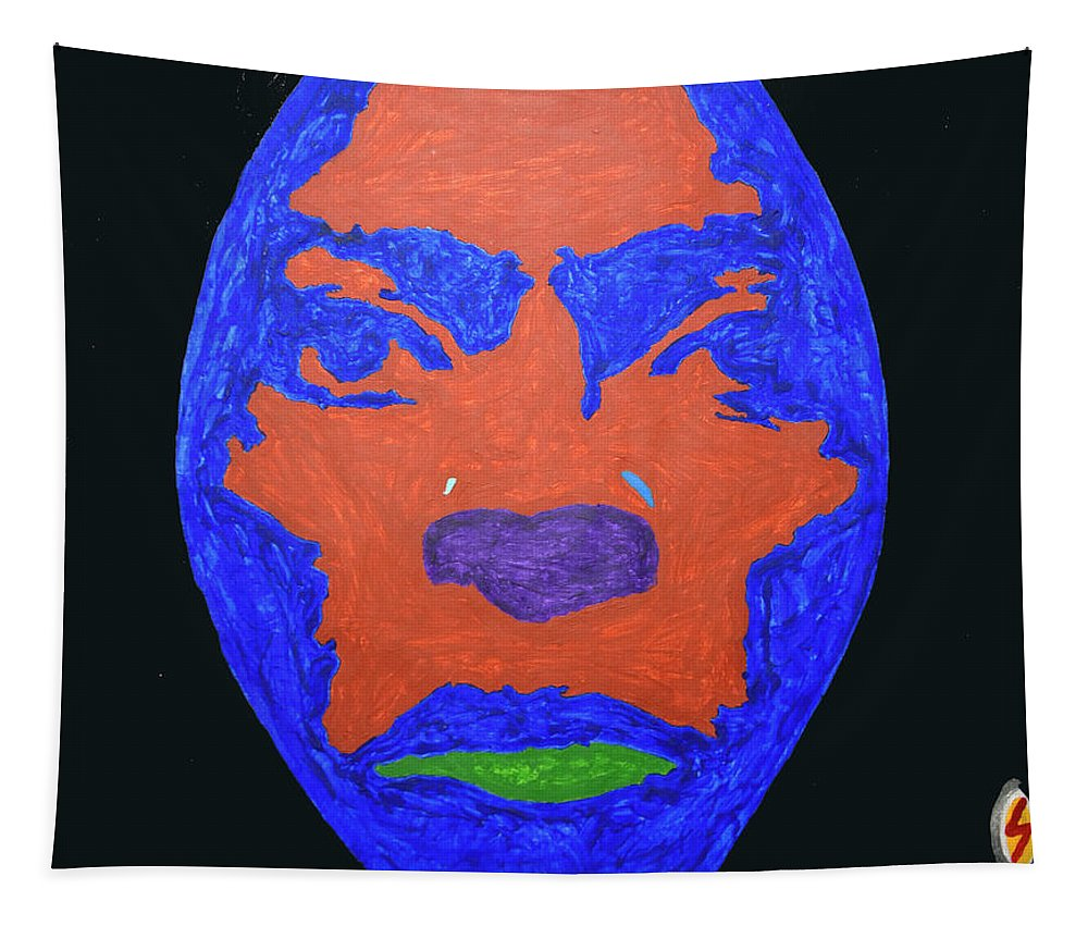 Pop Art Tapestry featuring the painting Miles Ahead by Stormm Bradshaw