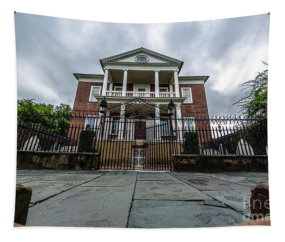 Miles Brewton House Tapestry featuring the photograph Miles Brewton House by Dale Powell