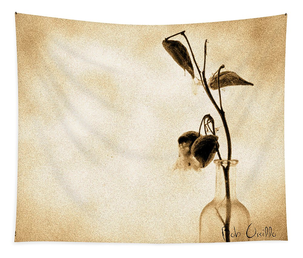 Plant Tapestry featuring the photograph Milk Weed In A Bottle by Bob Orsillo