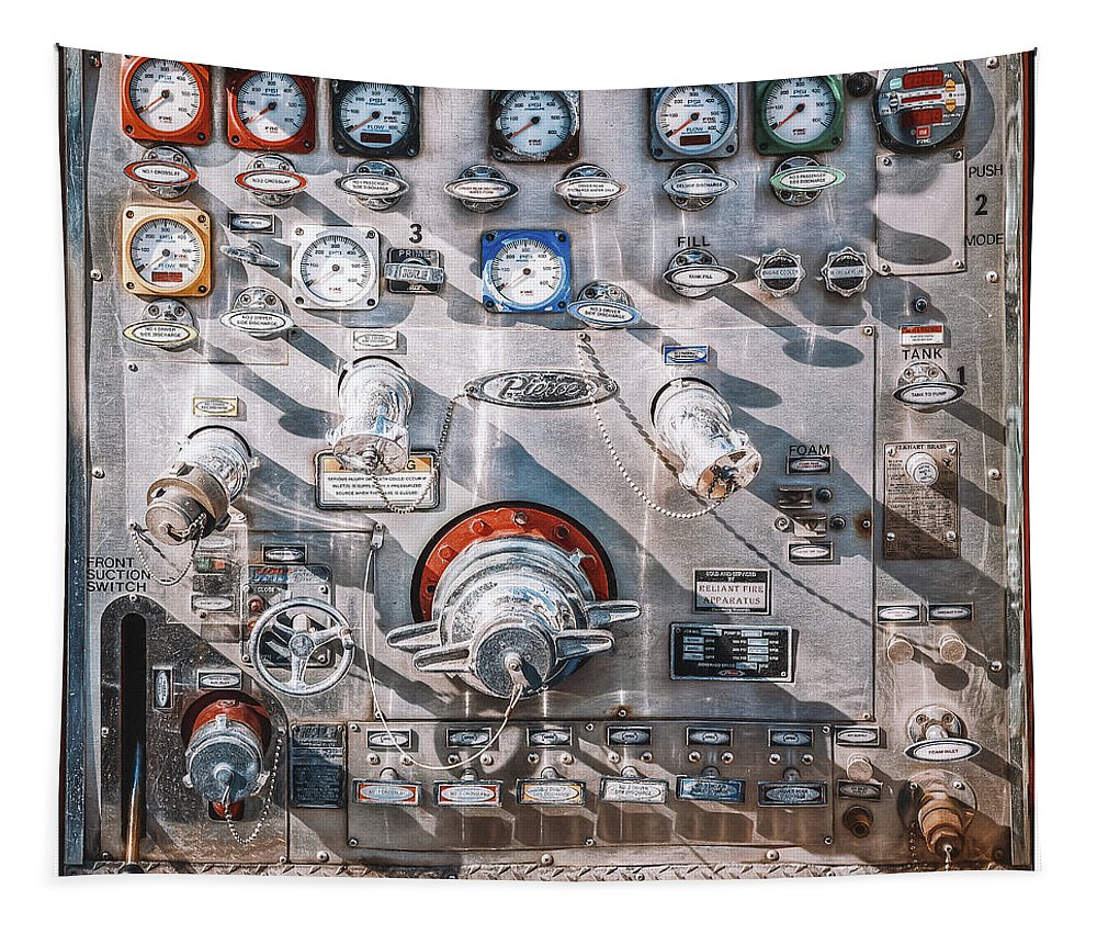 Fire Truck Tapestry featuring the photograph Milwaukee Fire Department Engine 27 by Scott Norris