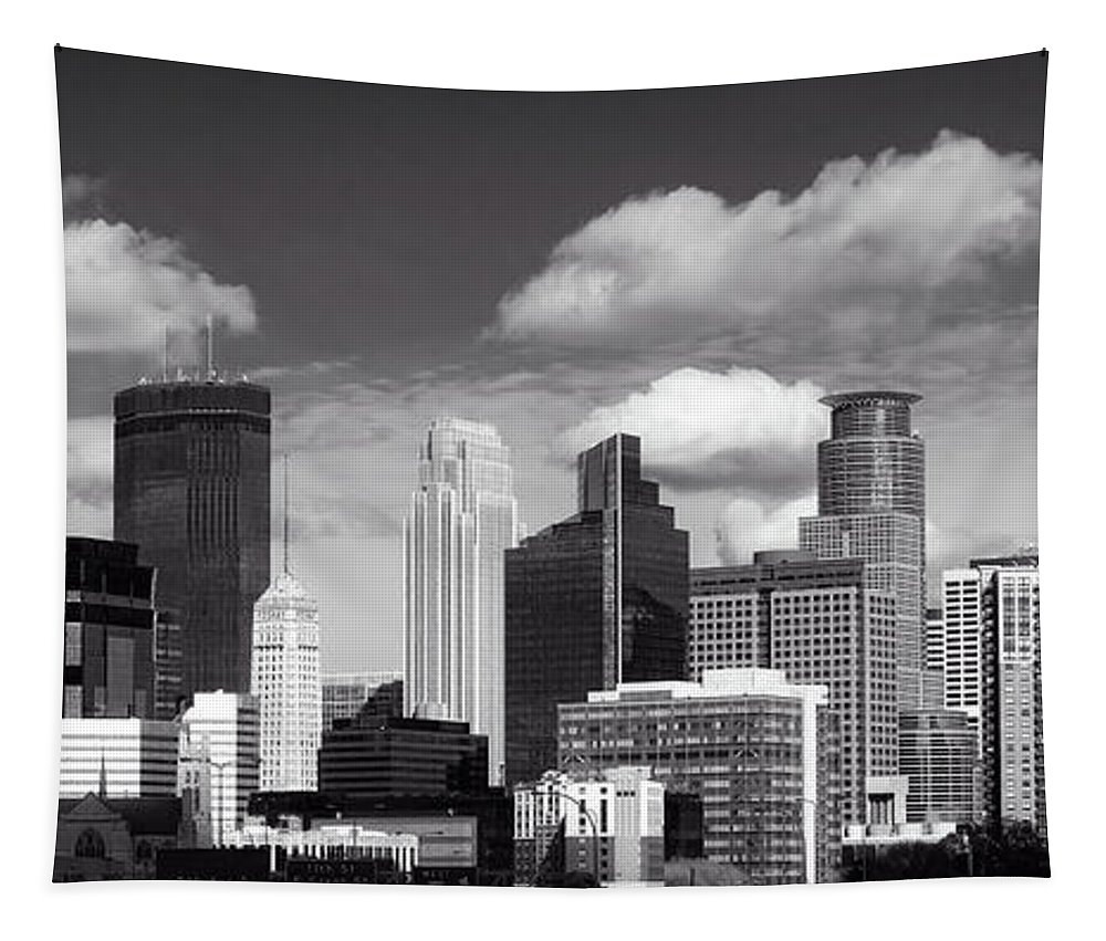 Minneapolis Tapestry featuring the photograph Minneapolis Skyline by Mountain Dreams