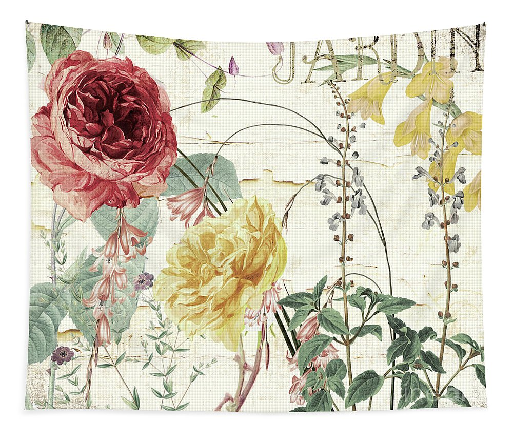 Flowers Tapestry featuring the painting Mirabelle I by Mindy Sommers