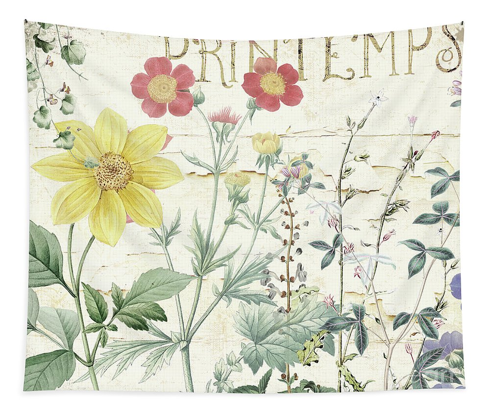 Flowers Tapestry featuring the painting Mirabelle IIi by Mindy Sommers