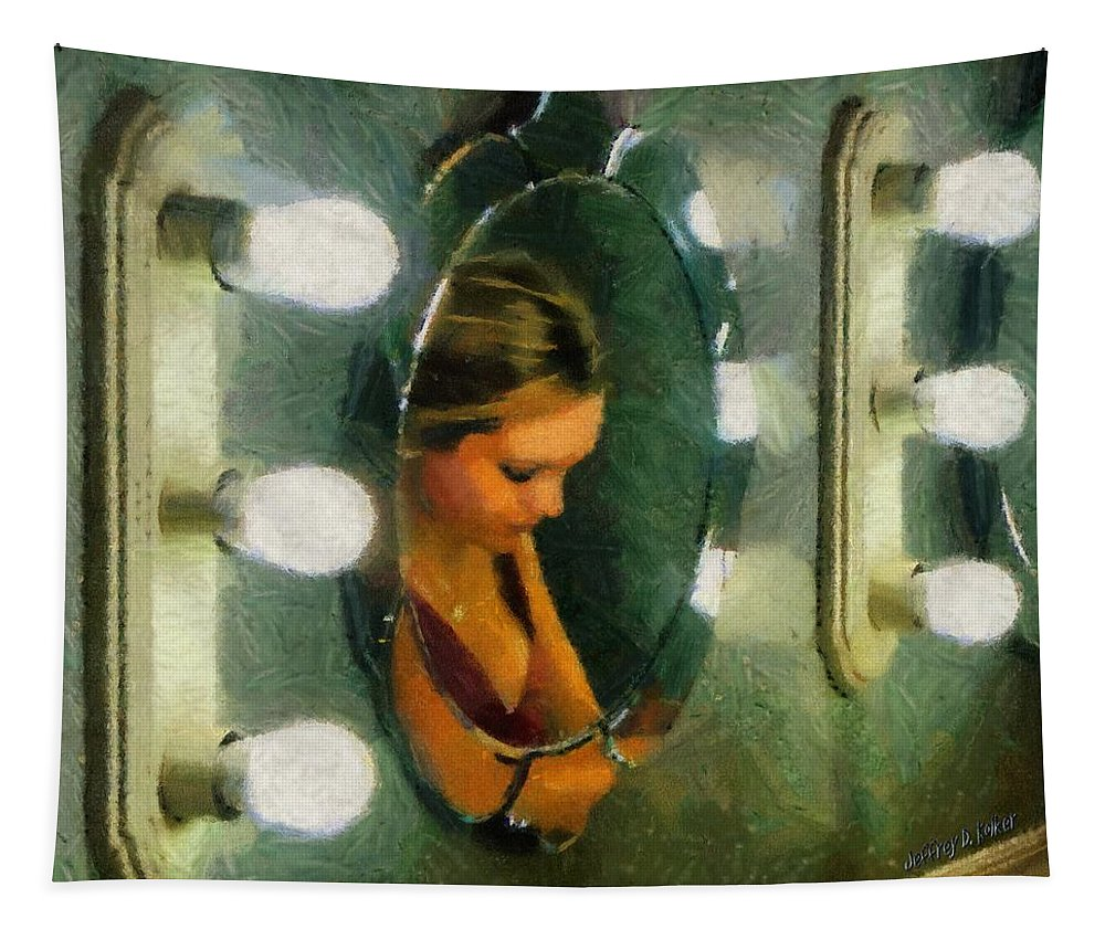 Bridesmaid Tapestry featuring the painting Mirror Mirror On The Wall by Jeffrey Kolker
