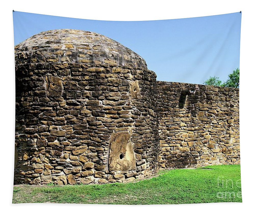 Mission Tapestry featuring the photograph Mission Fort by Gary Richards