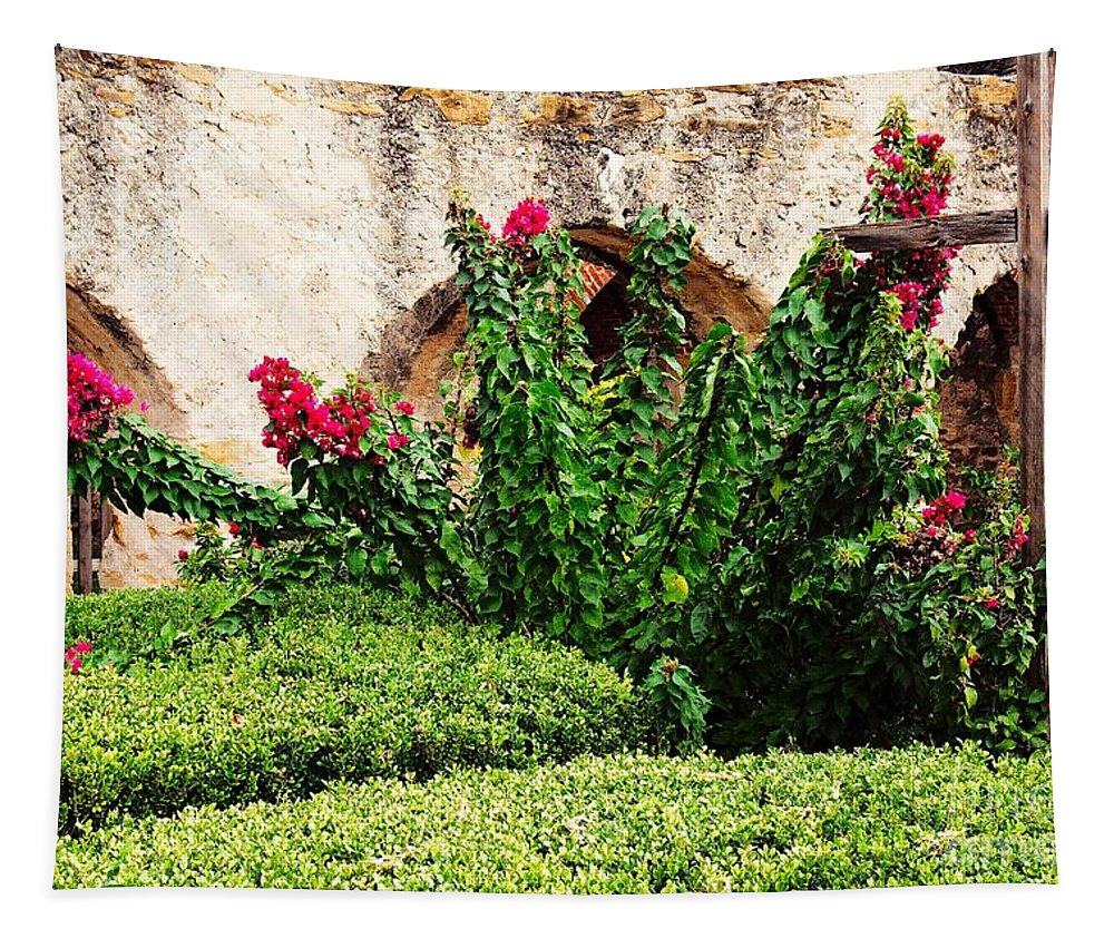 Flora Tapestry featuring the photograph Mission San Jose' Flora Beauty by Gary Richards