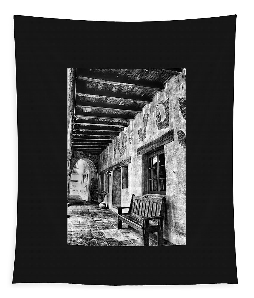 Tapestry featuring the photograph Mission San Juan Capistrano 1 by Rosanne Nitti