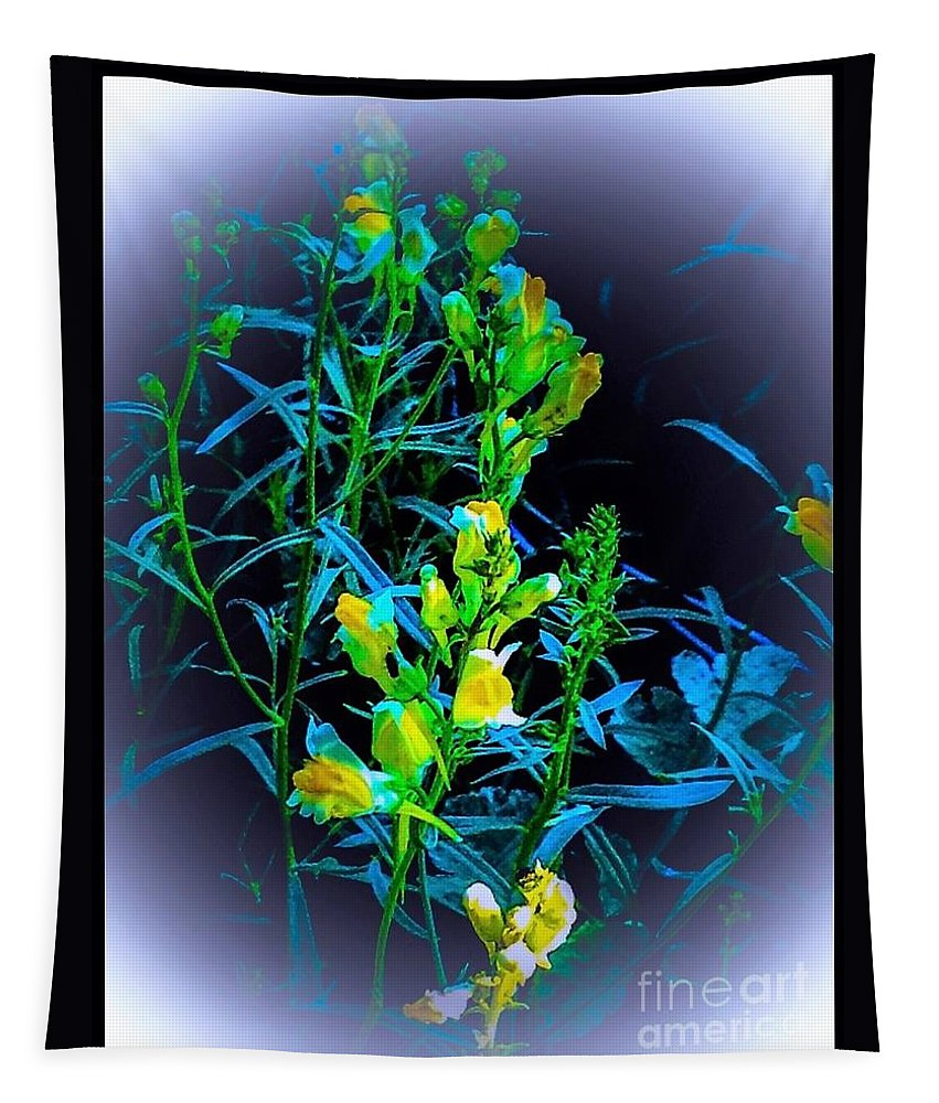 Misty/look Tapestry featuring the photograph Misty Look Wild Flowers by Debra Lynch