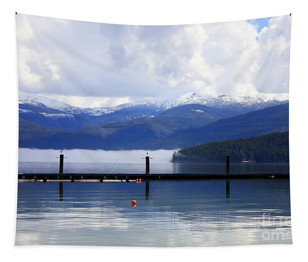 Priest Lake Tapestry featuring the photograph Misty Morning On Priest Lake by Carol Groenen
