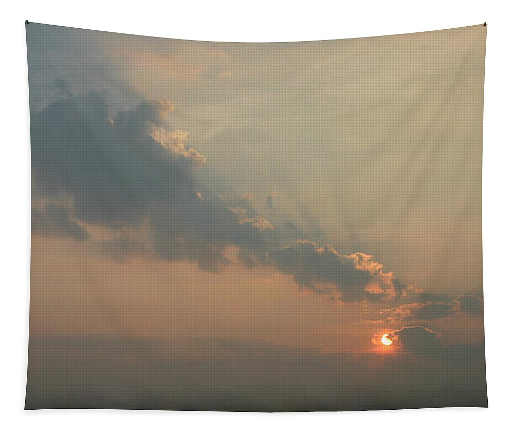 Dawn Tapestry featuring the photograph Misty Morning Promise by Richard De Wolfe