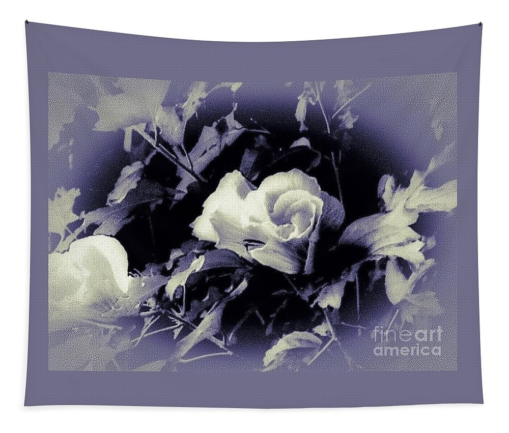 Rose-of-sharon Tapestry featuring the photograph Misty Rose Of Sharon by Debra Lynch