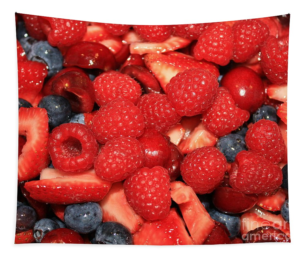 Ffood And Beverage Tapestry featuring the photograph Mixed Berries by Carol Groenen