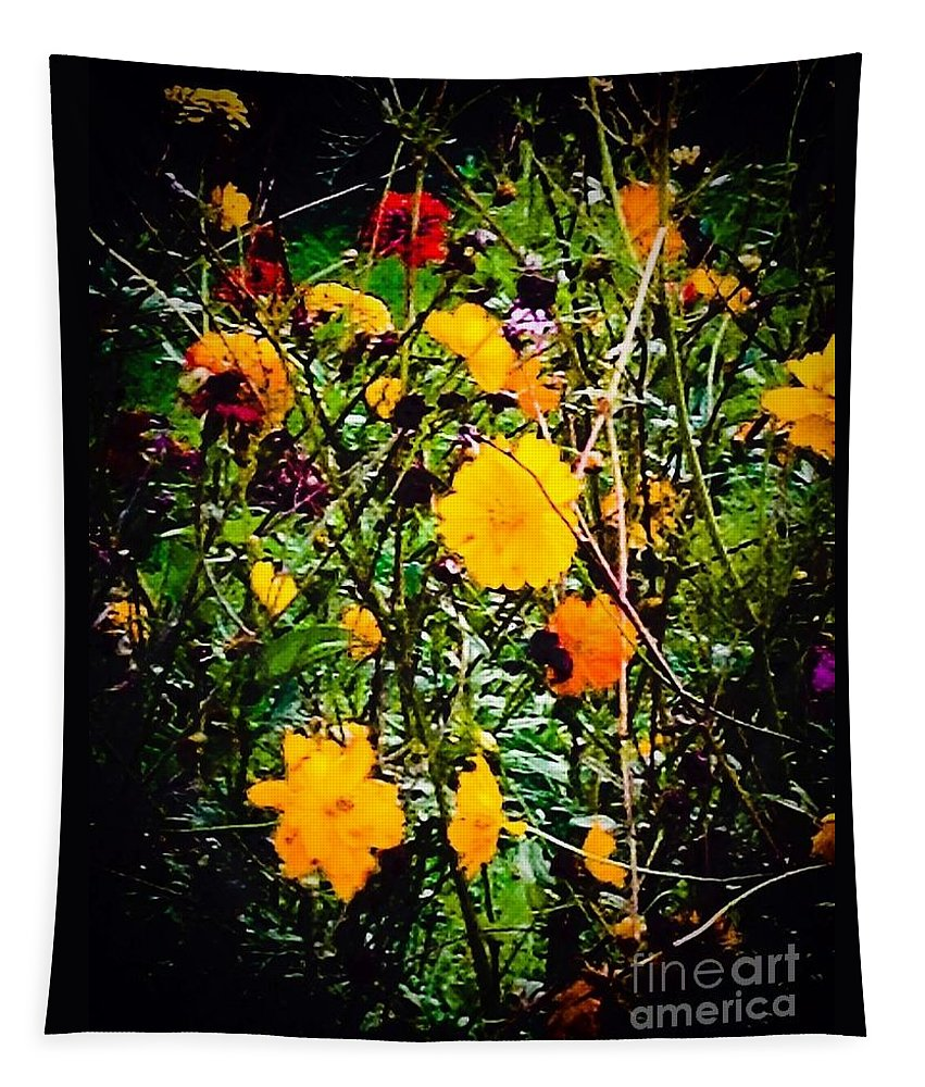 Mixture Tapestry featuring the photograph Mixture Of Flowers On Summer Day by Debra Lynch
