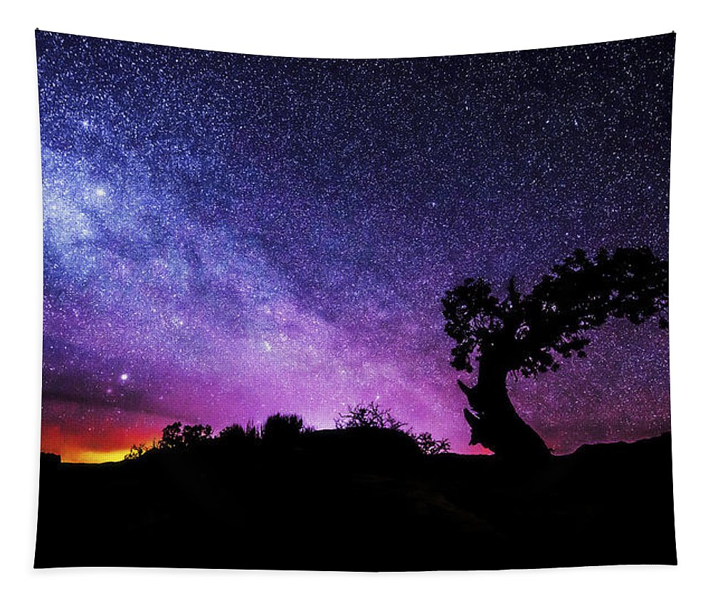 Moab Skies Tapestry featuring the photograph Moab Skies by Chad Dutson