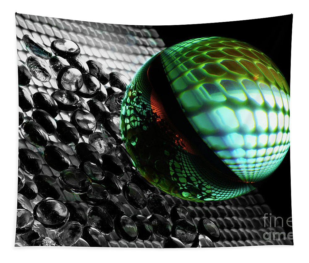 Abstract Tapestry featuring the photograph Mobious 18 by Bob Christopher