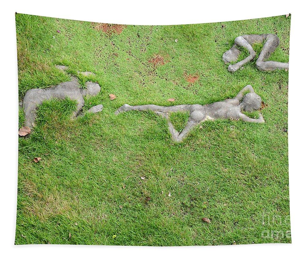 Park Tapestry featuring the photograph Modern Art In Salvador Da Bahia - Brazil by Ralf Broskvar