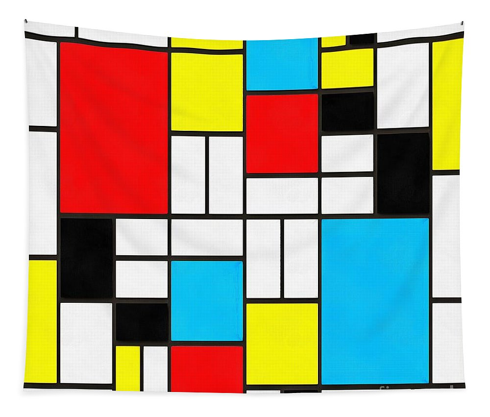 Mondrian Tapestry featuring the photograph Modern Art Square by Edward Fielding