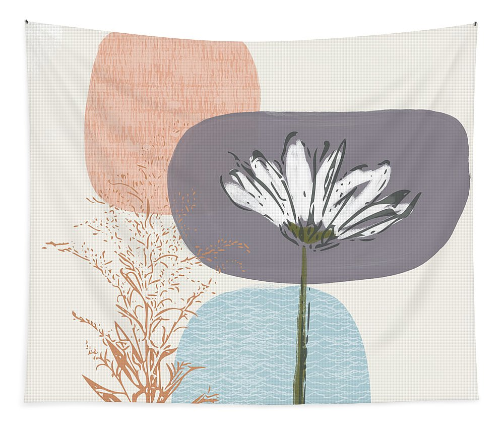 Modern Tapestry featuring the mixed media Modern Fall Floral 2- Art by Linda Woods by Linda Woods