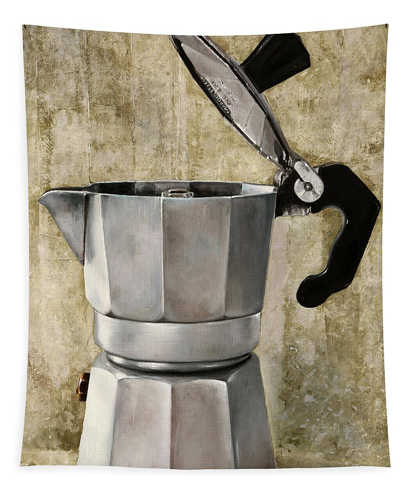 Cofeescape Tapestry featuring the painting Moka by Guido Borelli