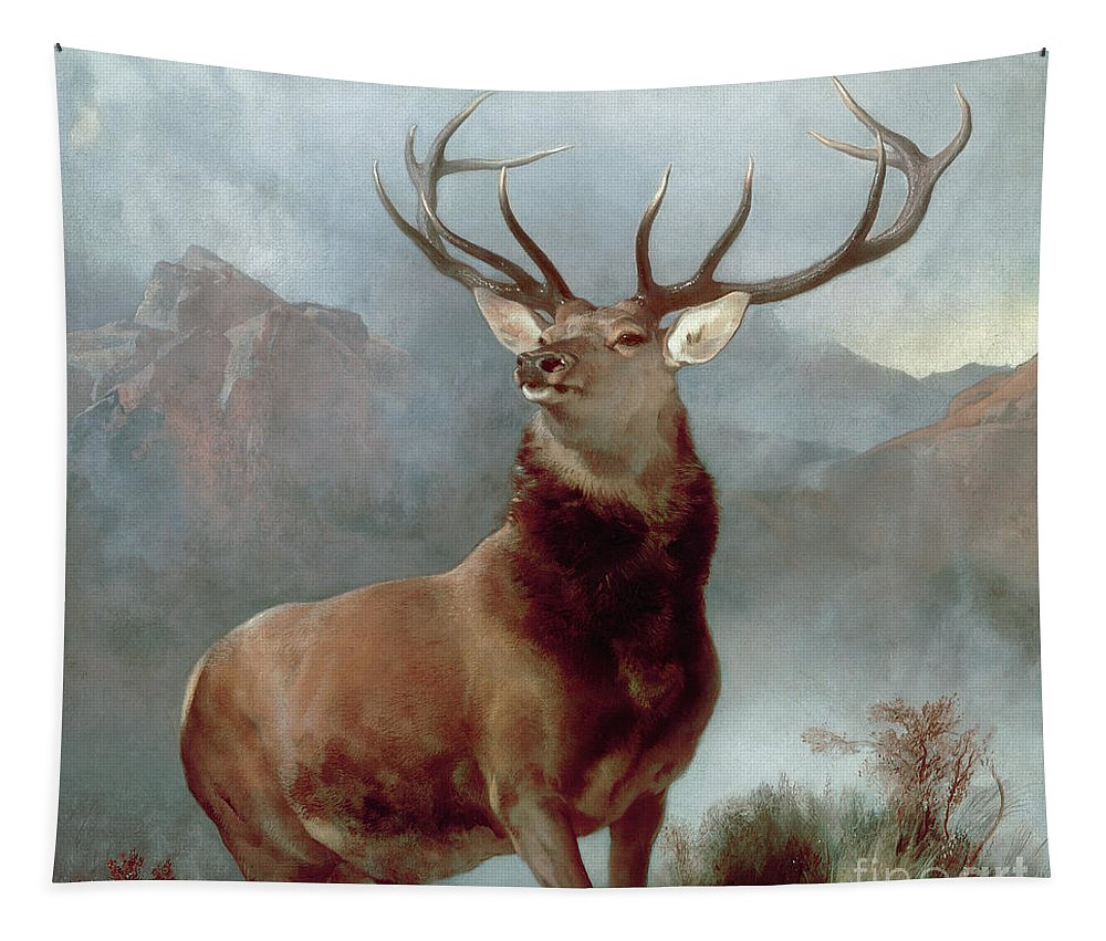 Monarch Tapestry featuring the painting Monarch of the Glen by Sir Edwin Landseer