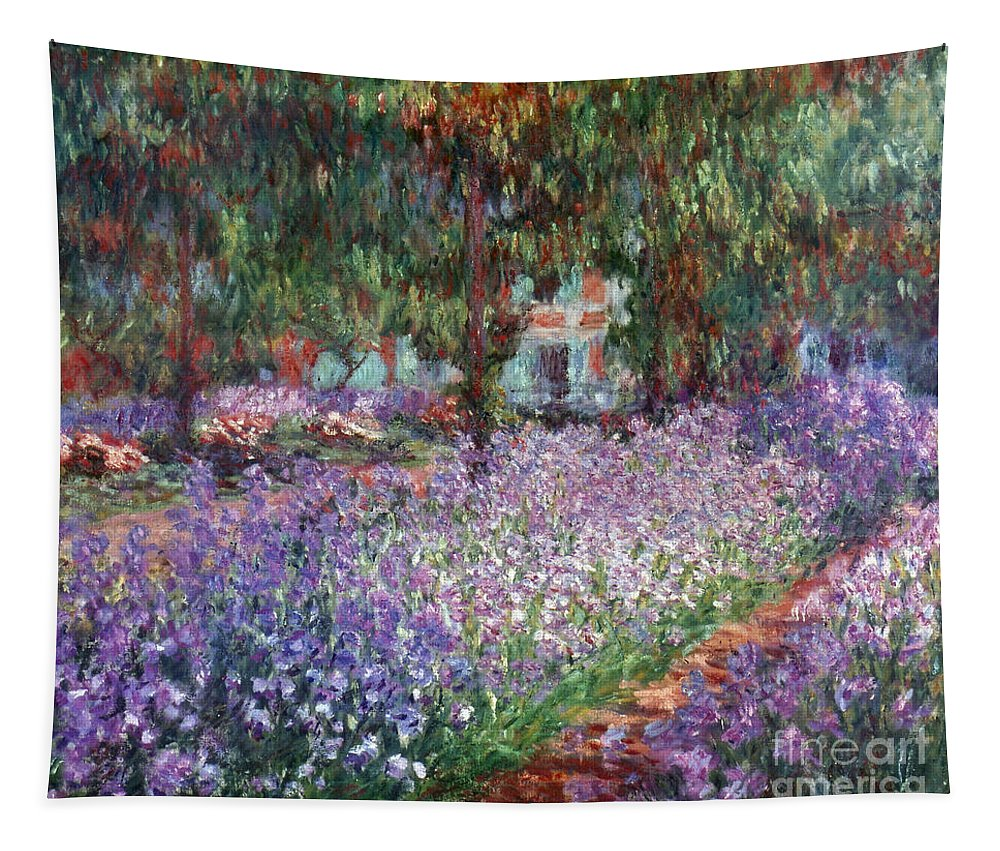 1900 Tapestry featuring the photograph Giverny, 1900 by Claude Monet