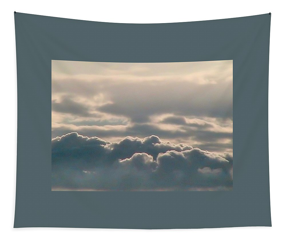 Arizona Tapestry featuring the photograph Monsoon Clouds by Judy Kennedy