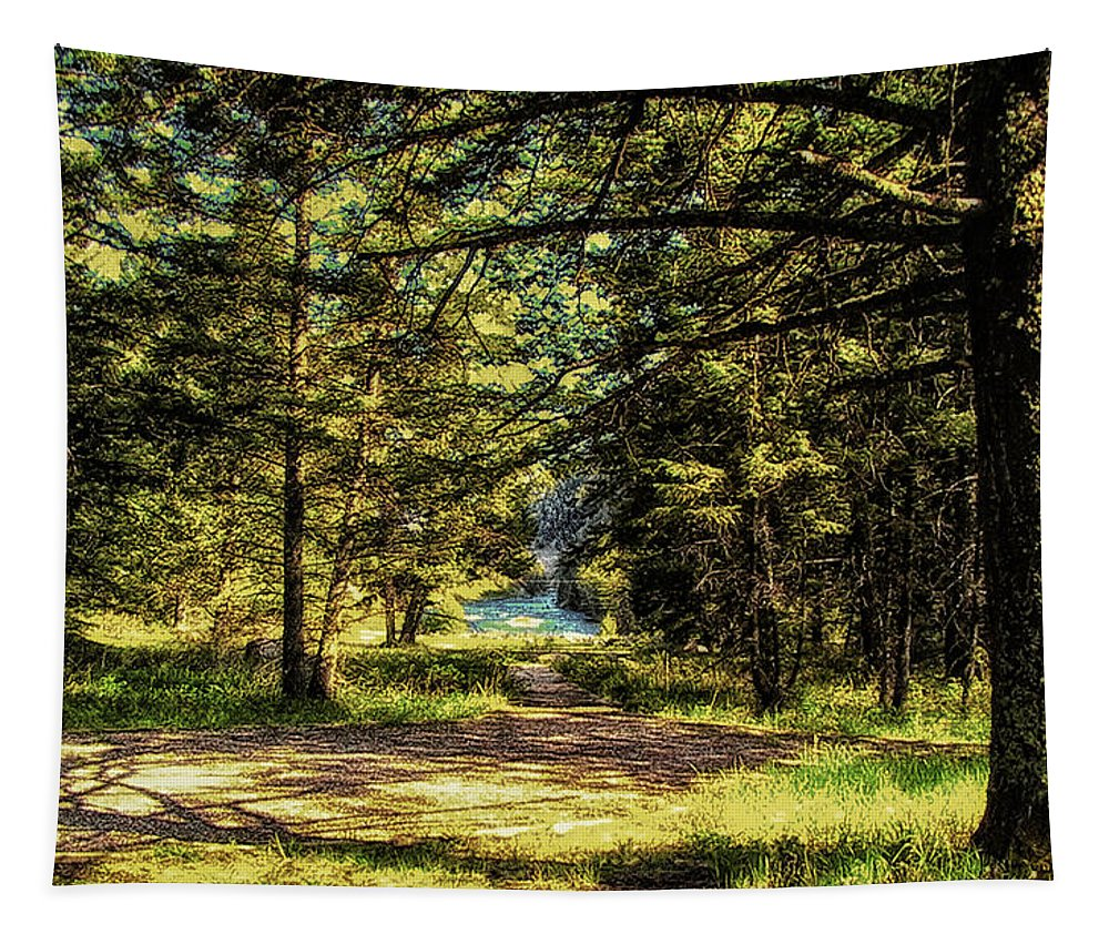 Montana Tapestry featuring the photograph Montana Scenery by Thomas Woolworth