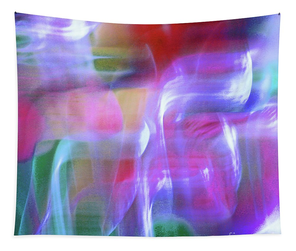 Abstract Tapestry featuring the photograph Moods Abstract Square by Karen Adams