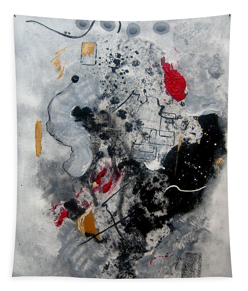 Abstract Tapestry featuring the painting Moods II by Ruth Palmer
