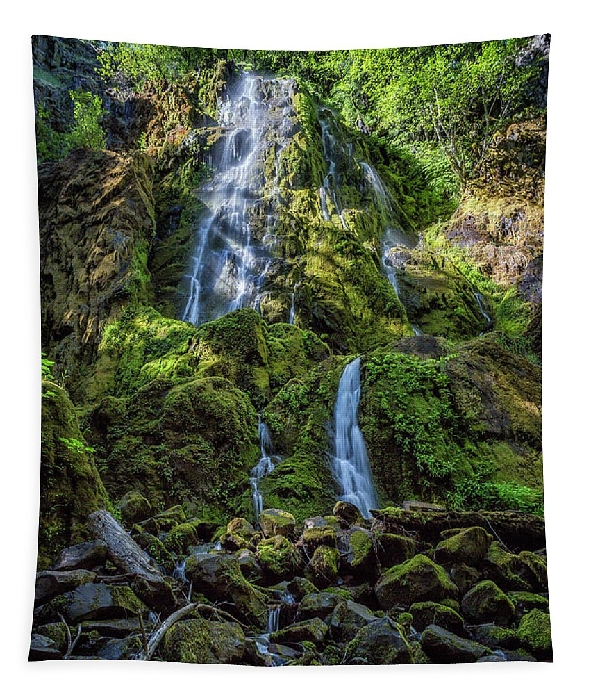 Moon Falls Tapestry featuring the photograph Moon Falls, No. 2 by Belinda Greb