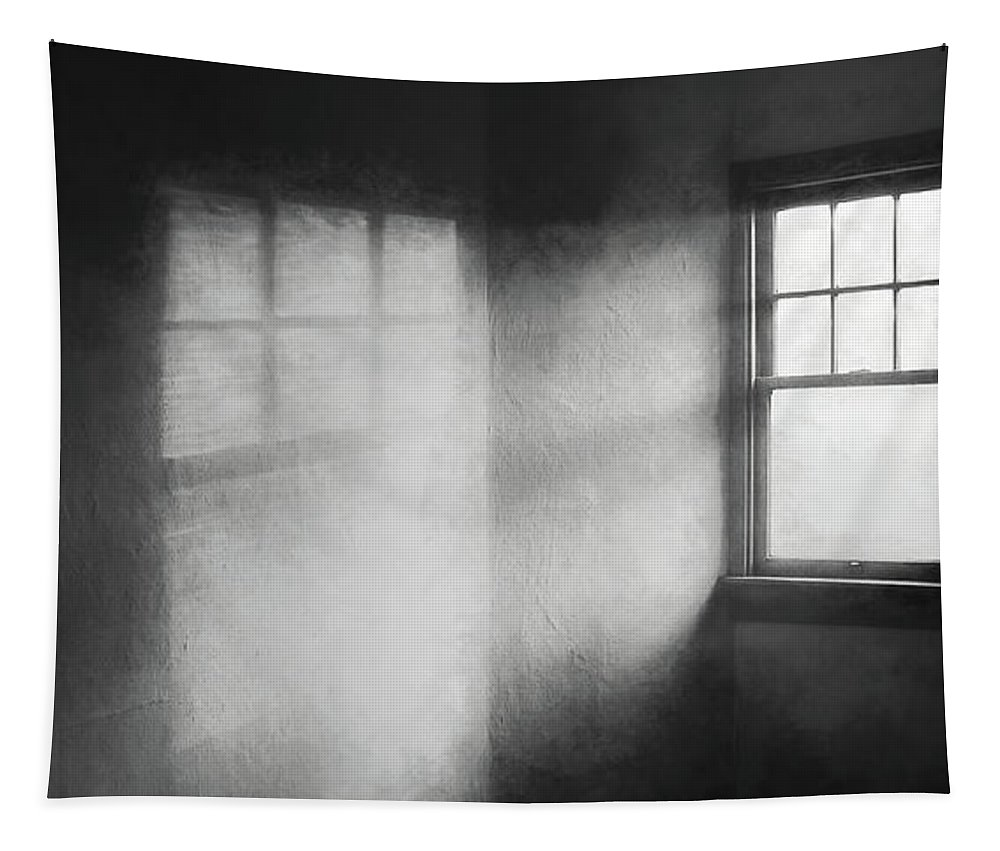 Window Tapestry featuring the photograph Moonbeams On The Attic Window by Scott Norris