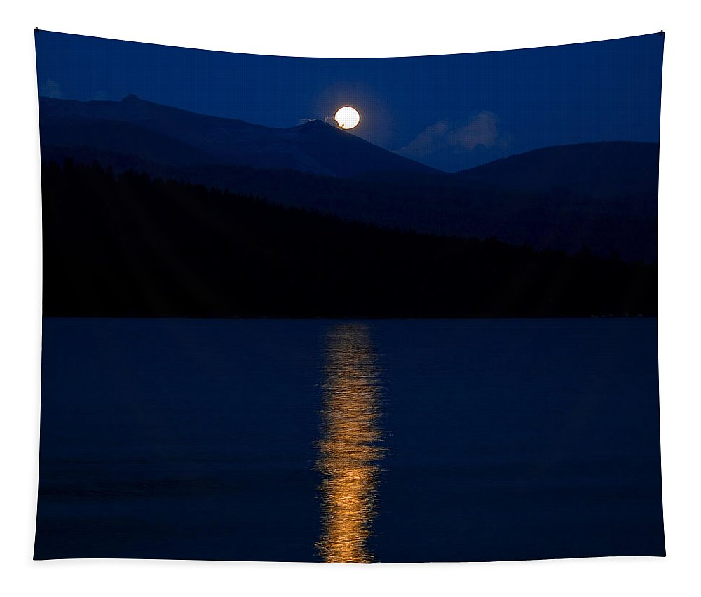 Moon Tapestry featuring the photograph Moonrise by David Patterson