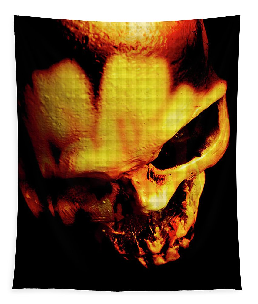 Horror Tapestry featuring the photograph Morbid Decaying Skull by Jorgo Photography - Wall Art Gallery