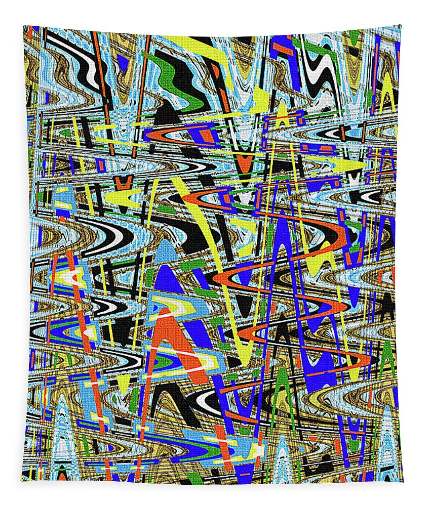More Colors Abstract Tapestry featuring the photograph More Colors Abstract by Tom Janca
