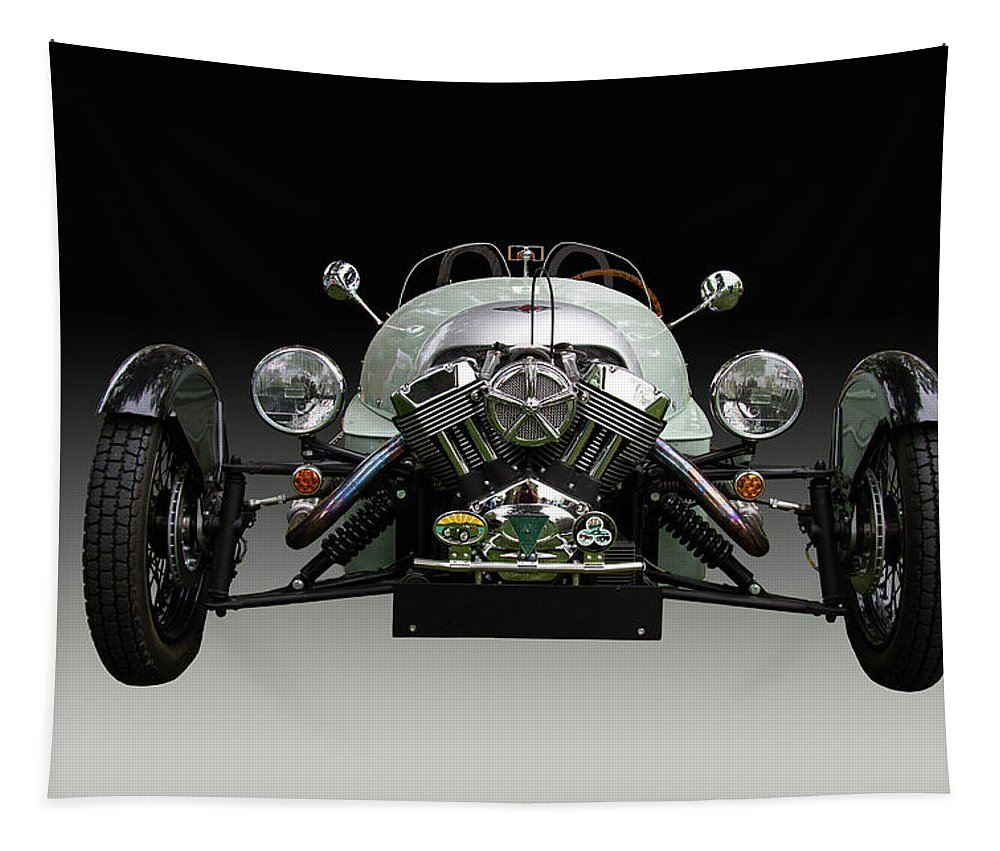 Morgan Tapestry featuring the photograph Morgan 3 Wheeler Front End by Nick Gray