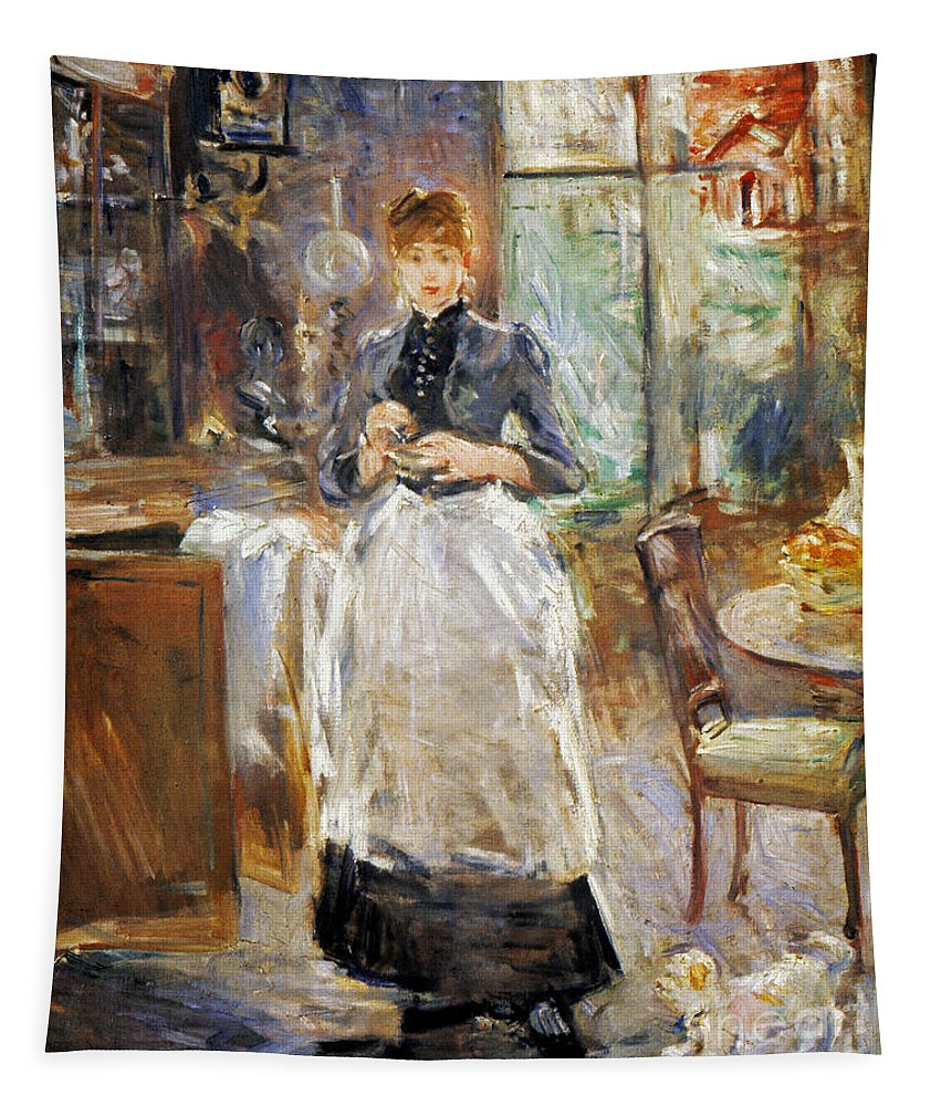 1886 Tapestry featuring the photograph Morisot: Dining Room, 1886 by Granger