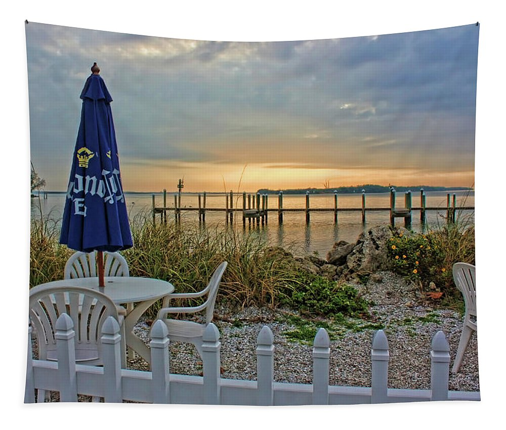 Sunrise Tapestry featuring the photograph Morning By The Bay by HH Photography of Florida