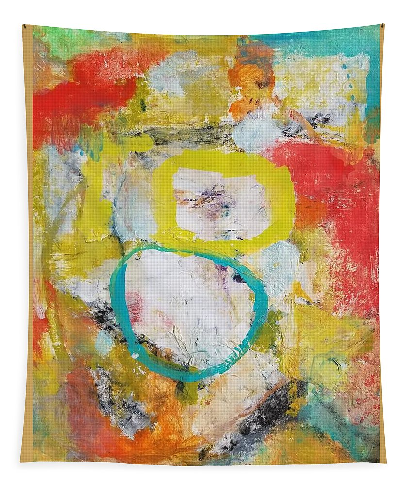 Abstract Tapestry featuring the painting Morning Calm by Patricia Byron