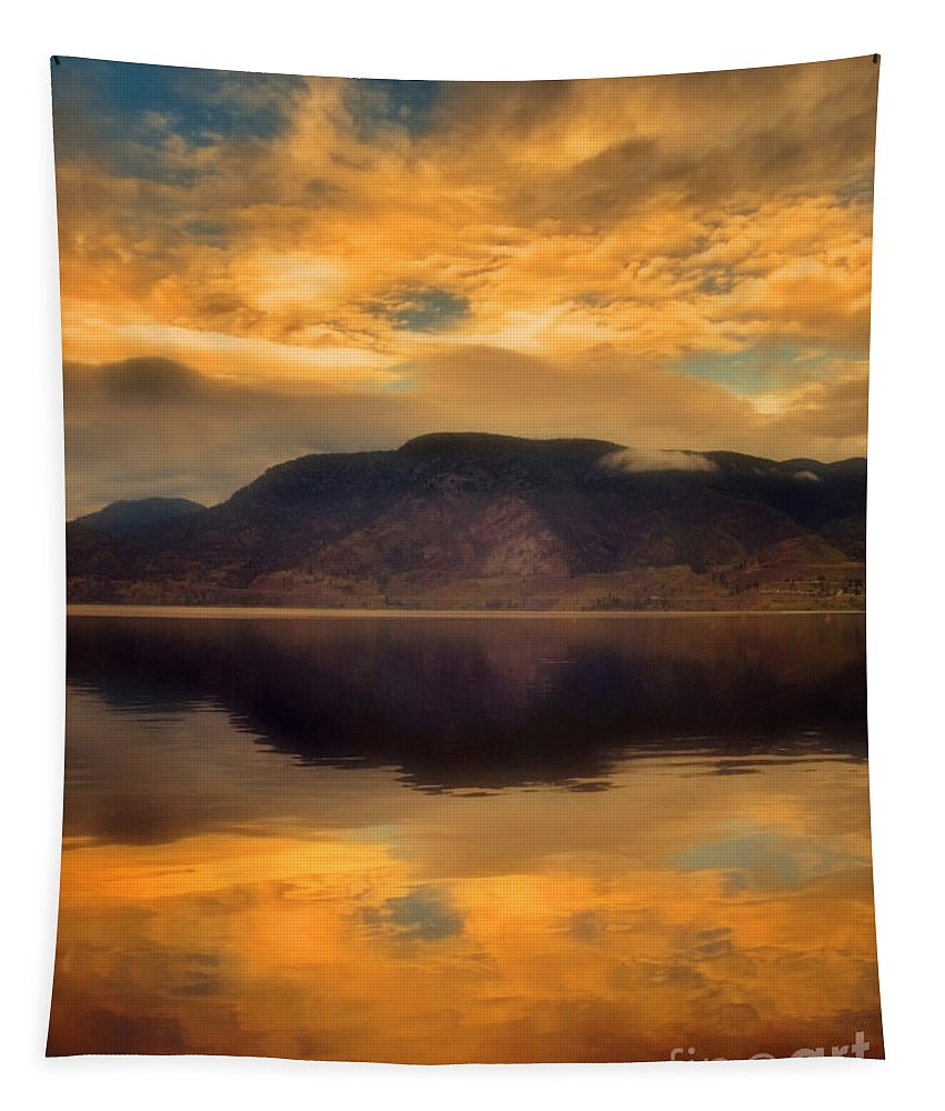 Clouds Tapestry featuring the photograph Morning Fire by Tara Turner
