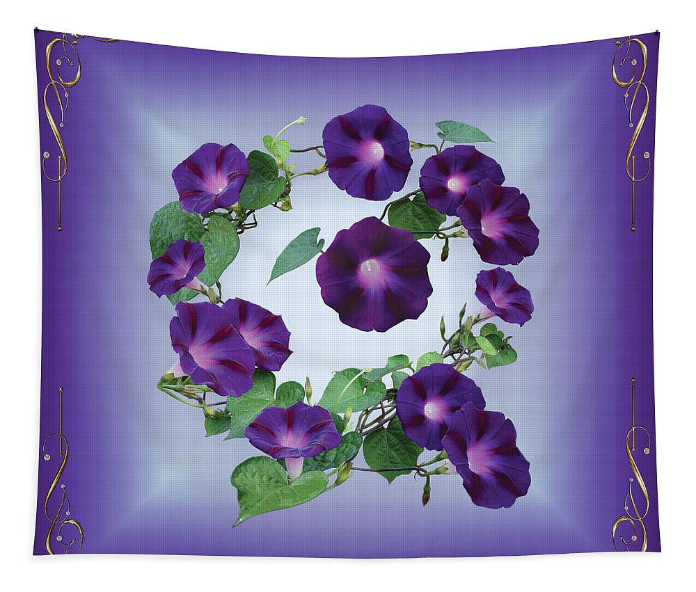 Morning Glory Tapestry featuring the photograph Morning Glory Design by Chris Busch