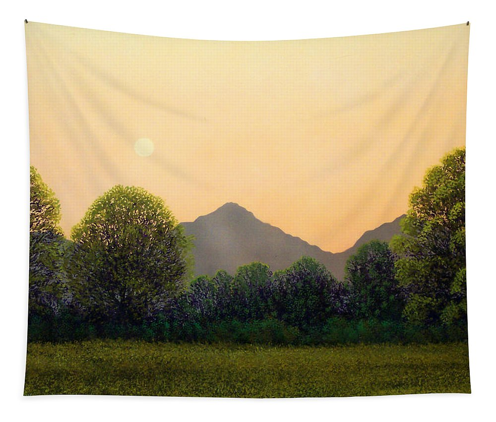 Landscape Tapestry featuring the painting Morning Light by Frank Wilson