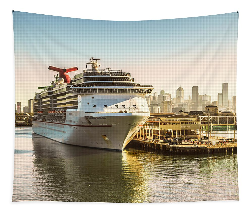 Port Tapestry featuring the photograph Morning Port by Jorgo Photography - Wall Art Gallery